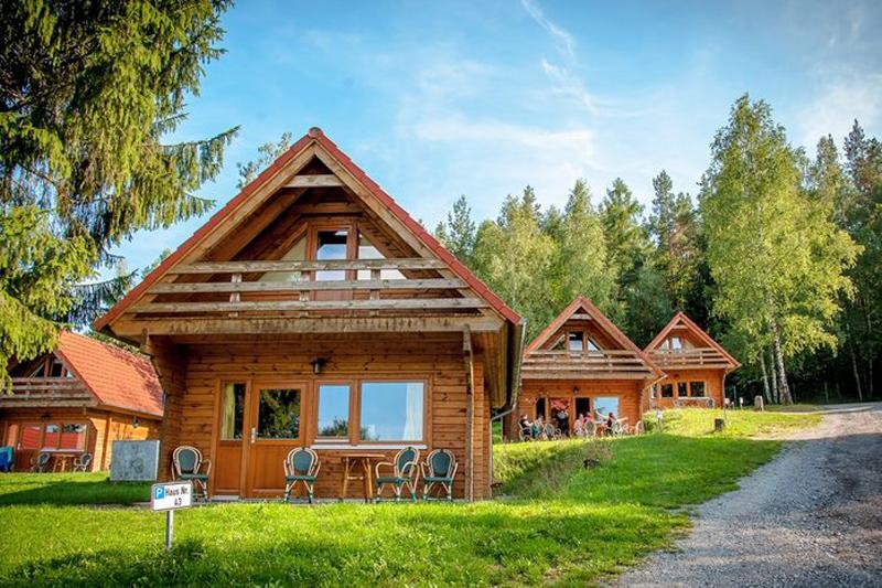 Campingplatz Stausee Hohenfelden Ferienhaus Typ Fjord