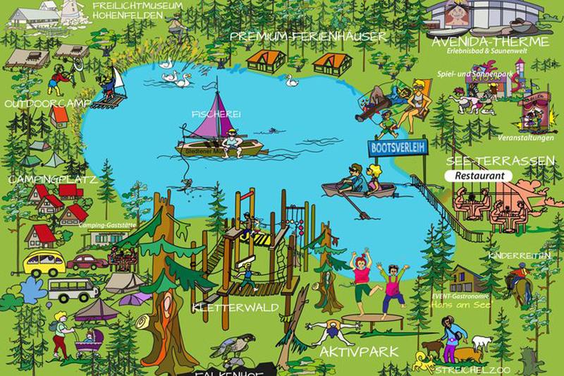 Campingplatz Stausee Hohenfelden Übersichtskarte