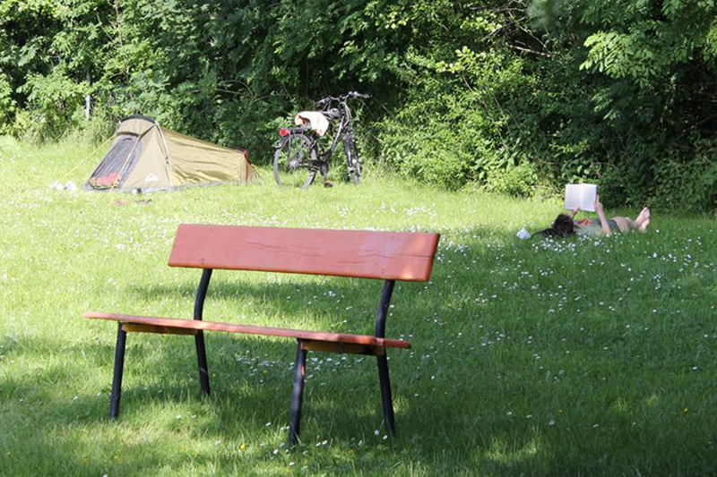 Camping Ettersburg Sitzbank