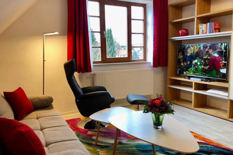 Hubertusnest Bad Berka Wohnzimmer