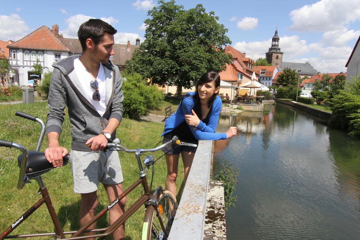 Klein Venedig in Bad Berka auf dem Ilmtalradweg Foto: Uwe Germar, Weimarer Land Tourismus