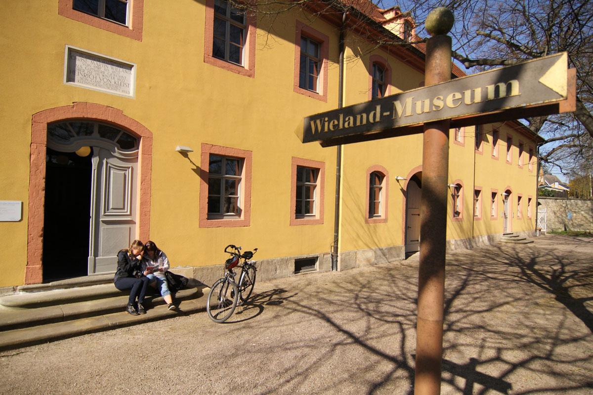 Wielandgut in Oßmannstedt auf dem Ilmtal-Radweg Foto: Uwe Germar, Weimarer Land Tourismus