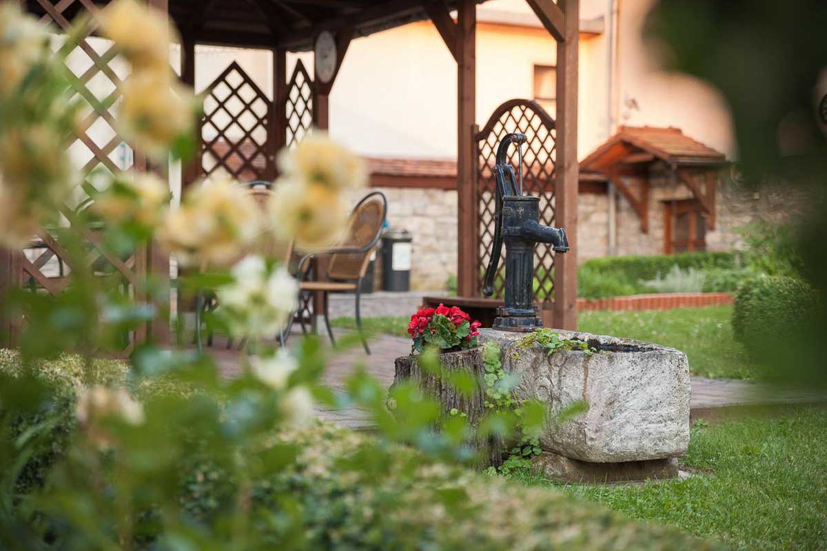 Pension vier napoleonslinden Garten