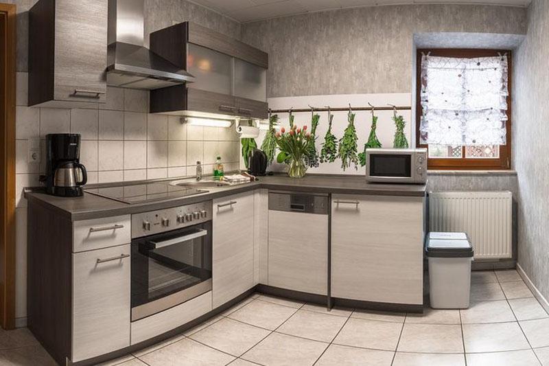 Pension vier napoleonslinden Ferienhaus Küche