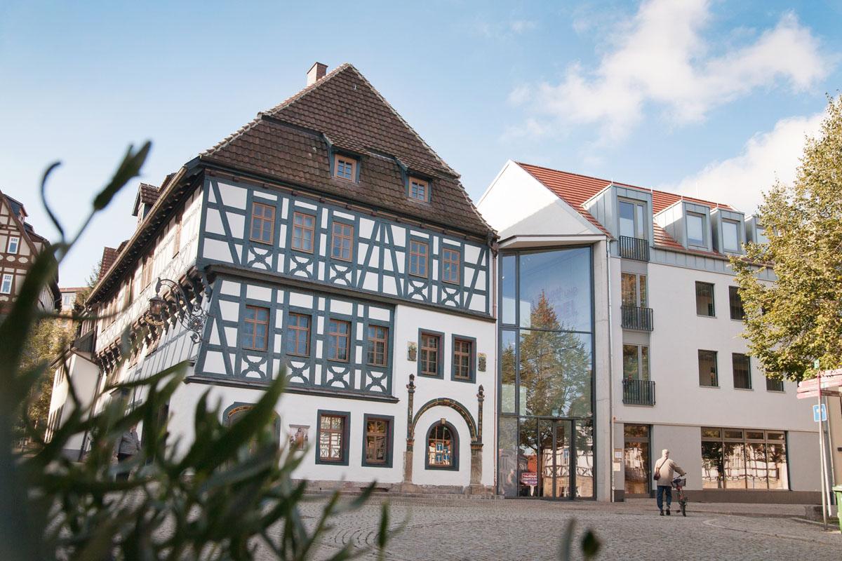 Lutherhaus Eisenach mit Anbau auf dem Thüringer Städtekette Radweg| © Paul Hentschel, Lutherweg, TTG