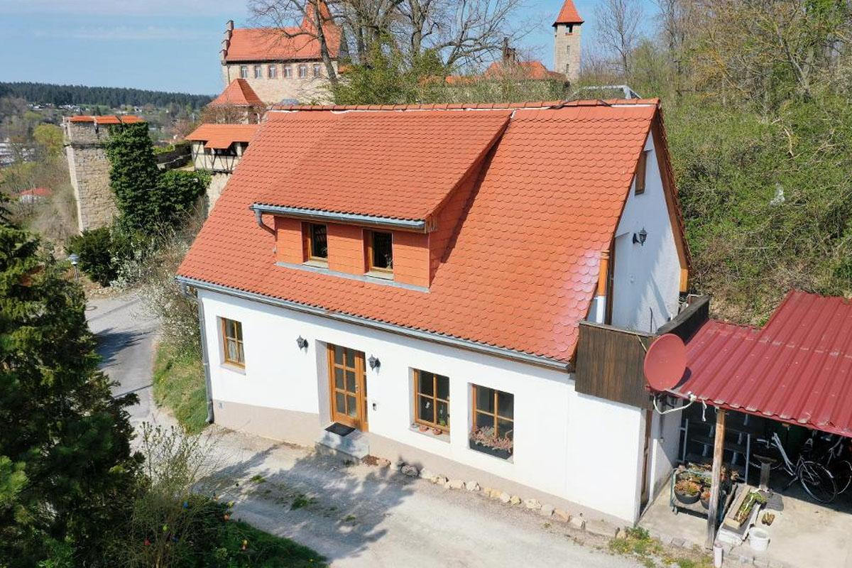 Zweiburgenblick Ferienhaus Außenansicht