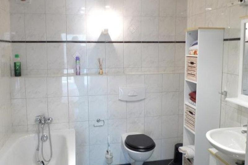 Zweiburgenblick Ferienhaus Badzimmer
