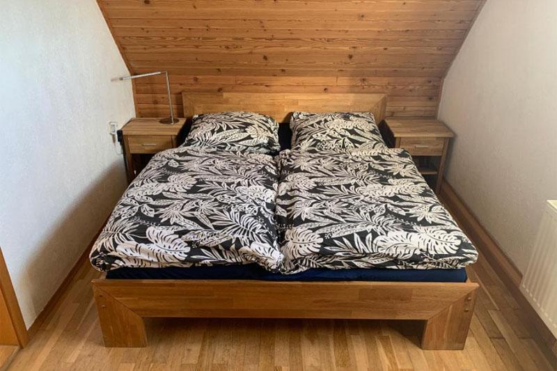 Zweiburgenblick Ferienhaus Schlafzimmer
