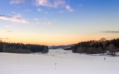 Skilanglauf auf dem Golfplatz