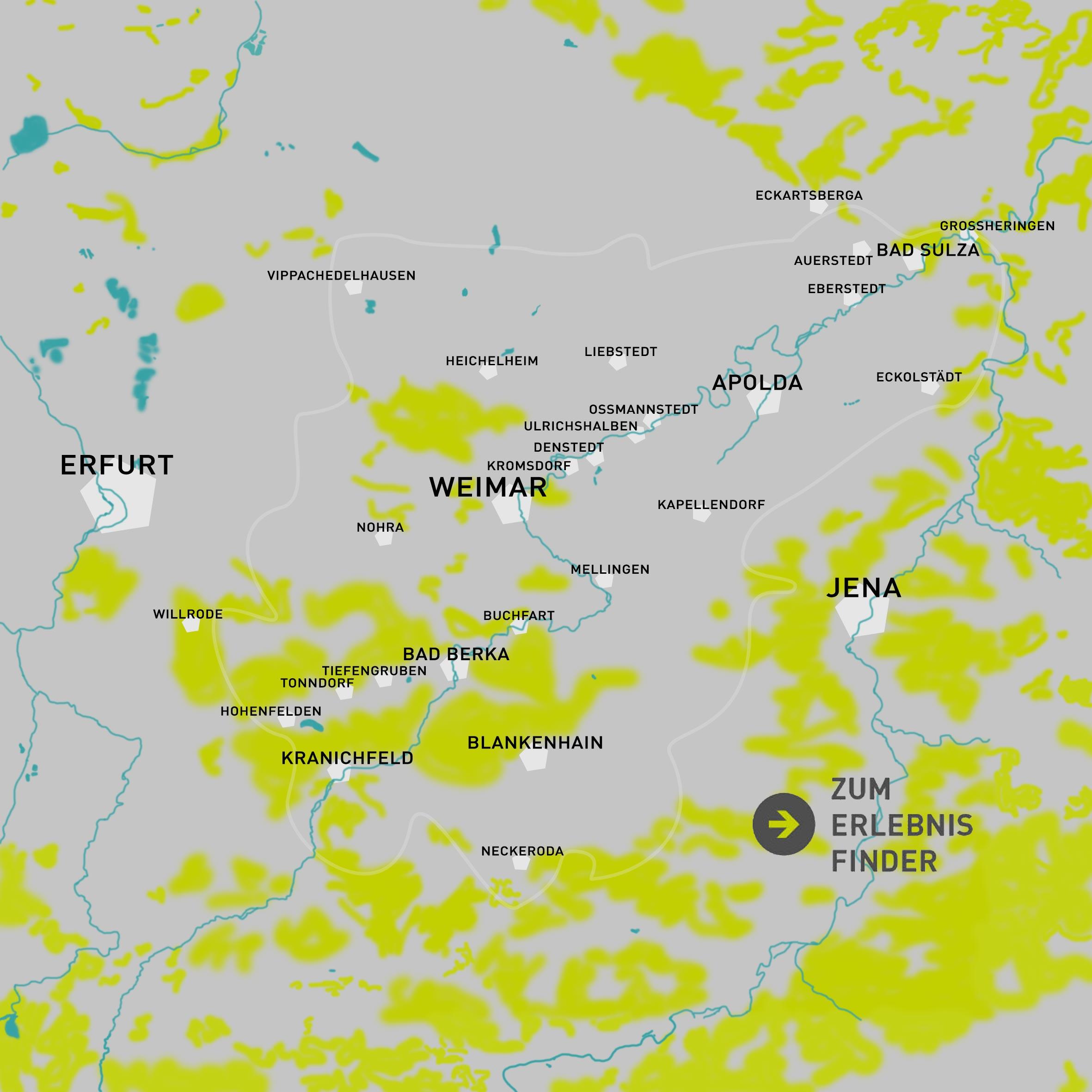 Karte des Weimarer Landes